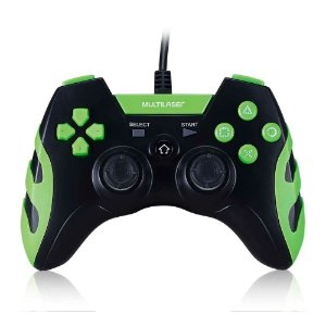 Controle Gamer Ps3/PC Preto/Verde Js091 - Multilaser