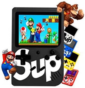 Mini Game Portátil Sup Game Box Plus 400 Jogos Na Memoria - preto