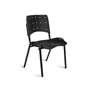 Cadeira Fixa Plástica Empilhável Ergoplax - Preta