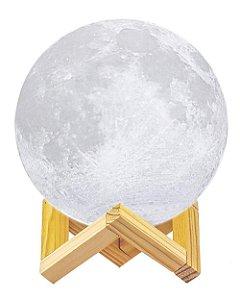 Umidificador Aromatizador Luminária Abajur Lua Led 880ml 3D