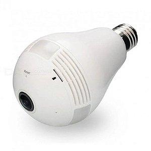 Camera Ip Lampada Visão 360 Panorâmica Espiã Wifi V380 1080p
