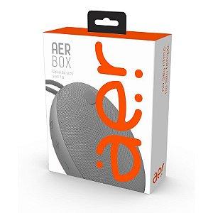 Caixa de Som Portátil Aerbox sem Fio Bluetooth 5W Resistente à Água Cinza - AERCX01GR - Geonav