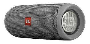 Caixa de Som Portátil Flip 5 com Bluetooth À Prova D'água - Cinza - JBL