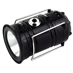 Lampião lanterna LED recarregável a luz solar SH-5800T - SIHONG