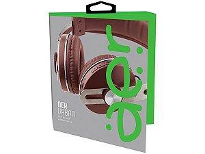 Fone de Ouvido Bluetooth AerUrban Recarregável Marrom - AER04BN - Geonav