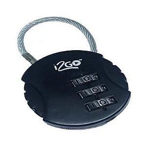 Cadeado com Segredo I2GOTH647BK - preto - i2GO