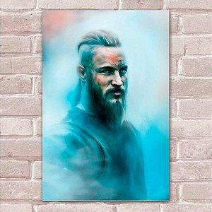 Placa Decorativa Vikings 11 Ragnar