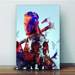 Placa Decorativa Vikings Ragnar