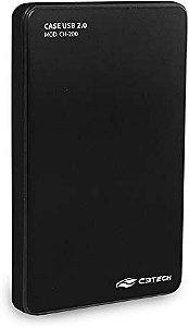 Case Gaveta para HD USB 2.0 Preto CH-200 - C3TECH