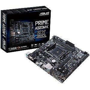 Placa mãe prime chipset Amd a320m-k/br socket am4 - ASUS