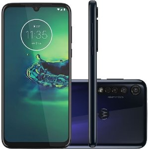 "Smartphone Motorola G8 Plus 64GB, Tela 6.3"", Câmera Tripla 48+5+16MP, Câmera Frontal 25MP, Dual Chip, Android 9.0 Azul"