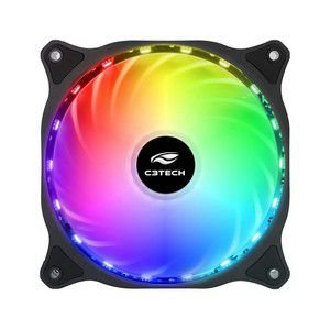 COOLER PARA GABINETE C3TECH F9L150RGB 120 X 120 X 25 MM LED
