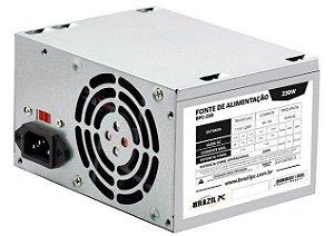 FONTE ATX 230W BPC-230V1.2 SEM CABO CINZA OEM BRAZILPC