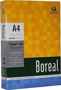 PAPEL A-4 BRANCO 500 FLS 75 GR 210X297 BOREAL