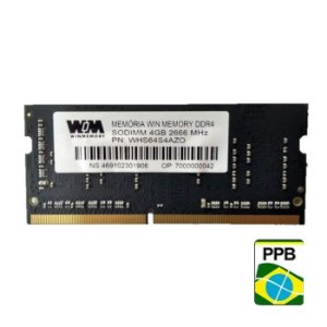 MEMORIA 4GB DDR4 2666MHZ WINMEMORY - NOTEBOOK