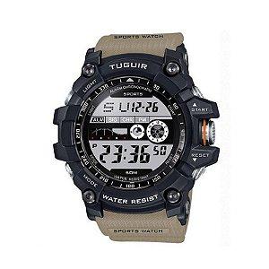 Relógio Masculino Tuguir Digital TG6009 - Bege e Preto-