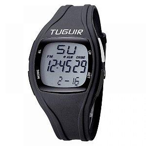 Relógio Pedômetro Unissex Tuguir Digital TG1801 - Preto