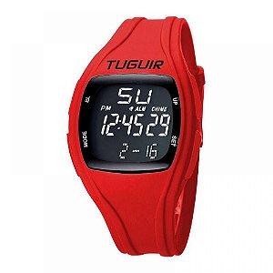 Relógio Unissex Tuguir Digital TG1801 - Vermelho e Preto