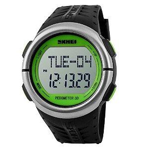 Relógio Pedômetro Unissex Skmei Digital 1058 - Preto e Verde