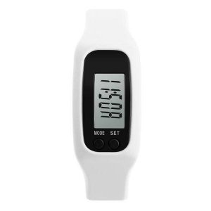Relógio Pedômetro Unissex Skmei Digital 1207 - Branco