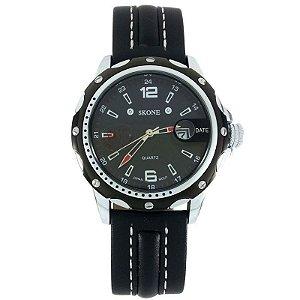 Relógio Masculino Analógico Skone 9117B Preto-