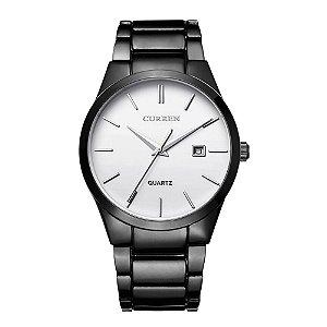 Relógio Masculino Curren Analógico 8106 - Preto e Branco