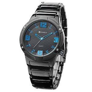 Relógio Masculino Curren Analógico 8111 - Preto e Azul