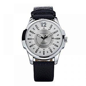 Relógio Masculino Curren Analógico 8123 - Prata e Branco