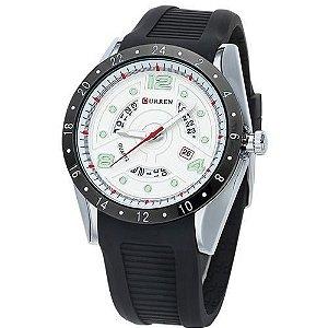Relógio Masculino Curren Analógico 8142 - Preto e Prata-