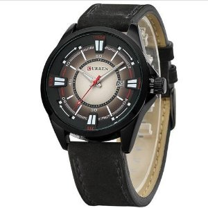 Relógio Masculino Curren Analógico 8155 - Preto e Marrom-