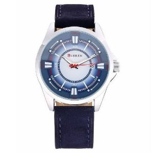 Relógio Masculino Curren Analógico 8155 Azul e Prata-