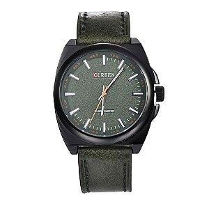 Relógio Masculino Curren Analógico 8168 - Verde e Preto