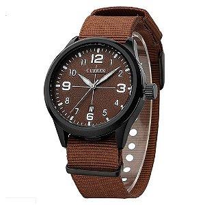 Relógio Masculino Curren Analógico 8195 - Marrom e Preto