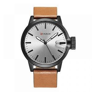 Relógio Masculino Curren Analógico 8208 - Marrom, Preto e Prata