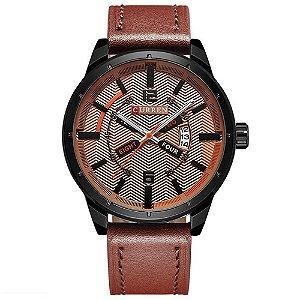 Relógio Masculino Curren Analógico 8211 - Marrom e Preto