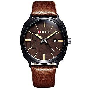 Relógio Masculino Curren Analógico 8212 Marrom