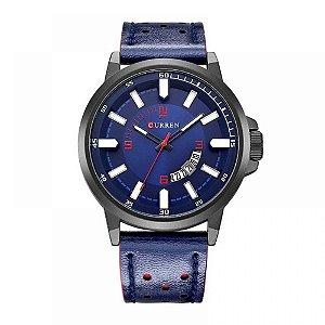 Relógio Masculino Curren Analógico 8228 - Azul e Preto