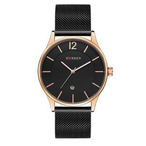 Relógio Masculino Curren Analógico 8231 - Preto e Dourado