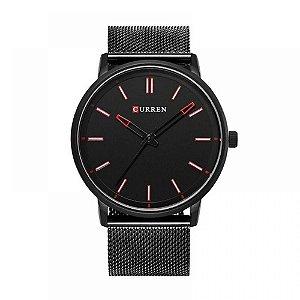 Relógio Masculino Curren Analógico 8233 - Preto e Vermelho