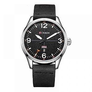 Relógio Masculino Curren Analógico 8265 - Preto, Prata e Branco