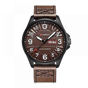 Relógio Masculino Curren Analógico 8269 - Marrom e Preto