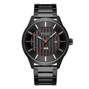 Relógio Masculino Curren Analógico 8316 - Preto e Vermelho