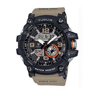 Relógio Masculino Tuguir Anadigi TG6009 Bege-
