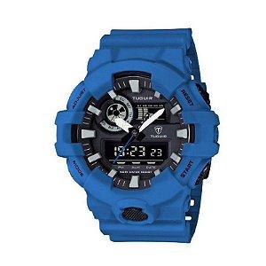 Relógio Masculino Tuguir Anadigi TG6019 Azul-
