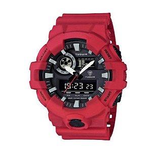 Relógio Masculino Tuguir Anadigi TG6019 Vermelho-
