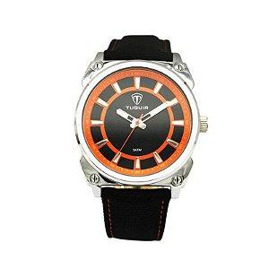 Relógio Masculino Tuguir Analógico 5007 - Preto e Laranja-