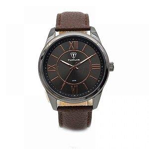 Relógio Masculino Tuguir Analógico 5010 - Marrom e Preto
