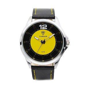 Relógio Masculino Tuguir Analógico 5018 - Preto e Amarelo-