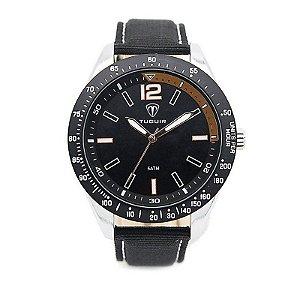 Relógio Masculino Tuguir Analógico 5030 - Preto e Prata-
