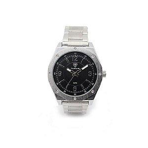 Relógio Masculino Tuguir Analógico 5033 - Prata e Preto-